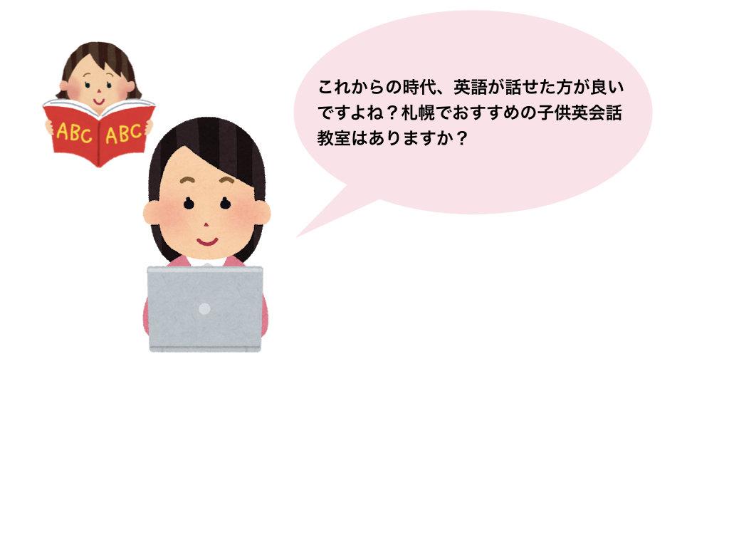 札幌のおすすめ子供英会話教室の導入