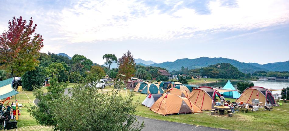 香川のおすすめグランピング&キャンプ施設④大池オートキャンプ場