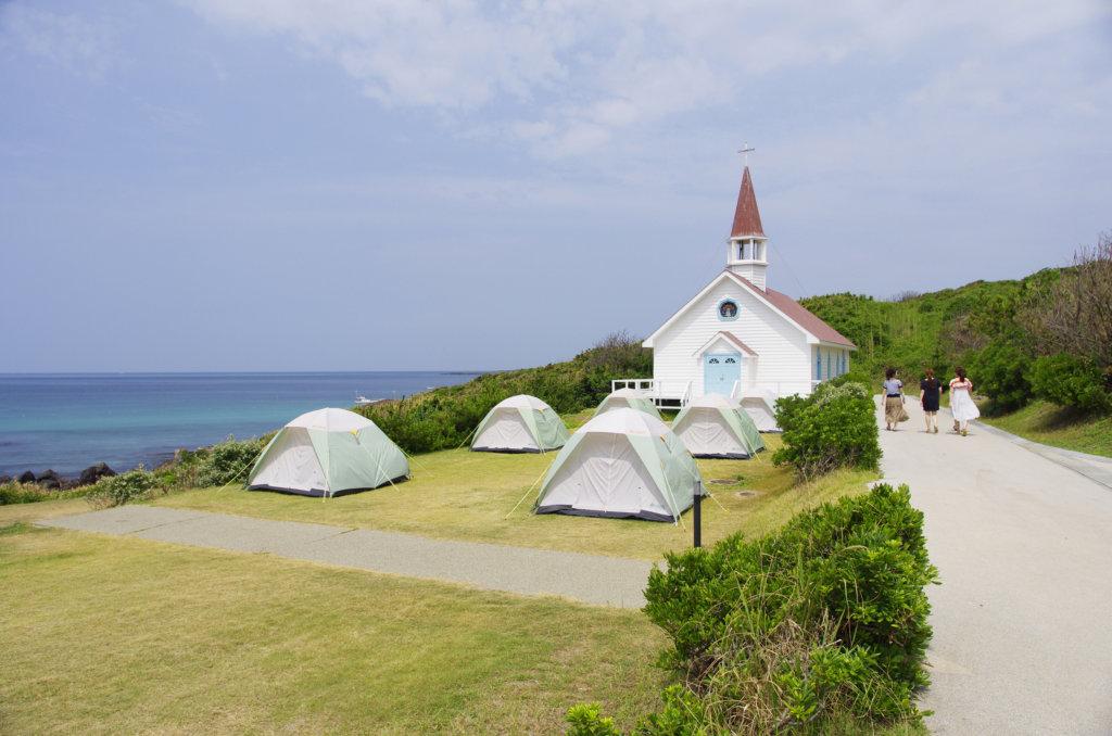 山口のおすすめグランピング&キャンプ施設⑤角島大浜キャンプ場